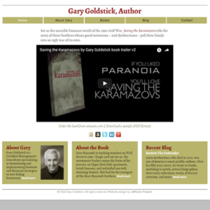 Gary Goldstick, Author